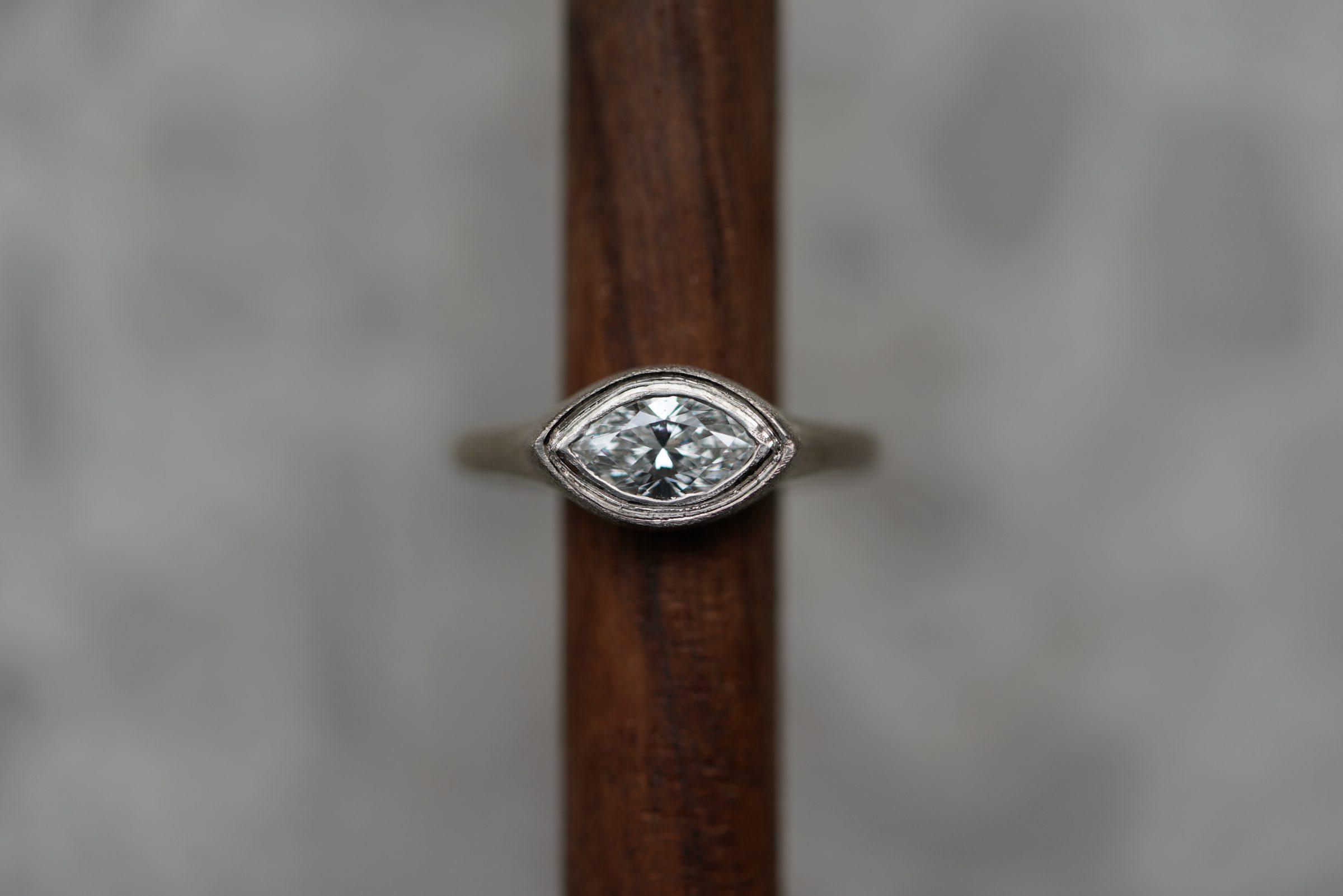 Marquise cut diamond.